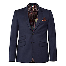 Buy Ted Baker Gatherj Check Tailored Fit Suit Jacket, Blue Online at johnlewis.com