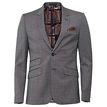 Buy Ted Baker Skiperj Salt and Pepper Slim Fit Suit Jacket, Grey Online at johnlewis.com