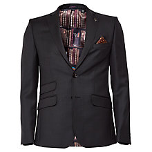 Buy Ted Baker Rivlinj Jacquard Wool Tailored Fit Suit Jacket, Black Online at johnlewis.com