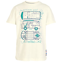 Buy Fat Face Boys' Blueprint Van T-Shirt, Ecru Online at johnlewis.com