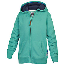 Buy Fat Face Boys' Shark Zip Through Hoodie, Green Online at johnlewis.com