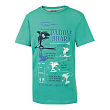 Buy Fat Face Boys' Paddleboard Print Glow In The Dark T-Shirt, Green Online at johnlewis.com