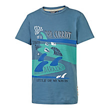 Buy Fat Face Boys' Rip Current T-Shirt, Denim Online at johnlewis.com