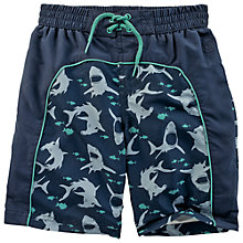Buy Fat Face Boys' Shark Species Board Shorts, Blue Online at johnlewis.com