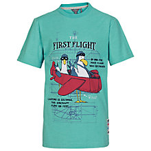 Buy Fat Face Boys' First Flight T-Shirt, Green Online at johnlewis.com