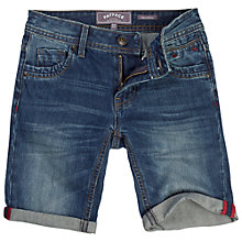 Buy Fat Face Boys' Barmouth Denim Shorts, Denim Online at johnlewis.com