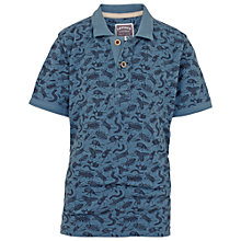 Buy Fat Face Boys' Bug Polo Shirt, Slate Blue Online at johnlewis.com