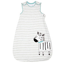 Buy John Lewis Baby Zebra Applique Sleep Bag, 2.5 Togs, Multi Online at johnlewis.com