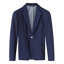 Buy Jigsaw Double Indigo Two Button Jacket, Indigo Online at johnlewis.com