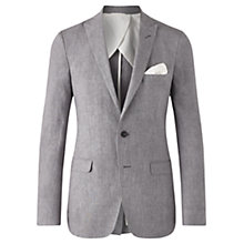 Buy Jigsaw Linen Melange Button Tail Jacket Online at johnlewis.com