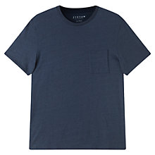 Buy Jigsaw Classic Short Sleeve T-Shirt, Indigo Online at johnlewis.com