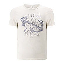 Buy Polo Ralph Lauren Jersey Logo T-Shirt, White Online at johnlewis.com