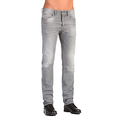 Image of Diesel Buster Stretch Jeans, Light Grey