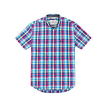 Buy Joules Wilson Gingham Short Sleeve Shirt Online at johnlewis.com