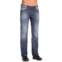 Buy Diesel Waykee 0855L Straight Jeans, Mid Blue Wash Online at johnlewis.com