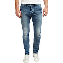 Buy Diesel Kakee 0853I Carrot Jeans, Mid Blue Wash Online at johnlewis.com