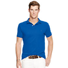 Buy Polo Ralph Lauren Short Sleeve Polo Shirt, Dark Cobalt Online at johnlewis.com