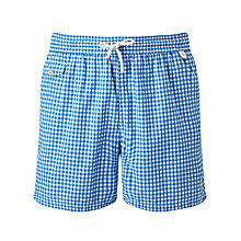 Buy Polo Ralph Lauren Traveller Gingham Swim Shorts Online at johnlewis.com