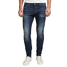 Buy Diesel Tepphar 0853R Carrot Jeans, Mid Blue Wash Online at johnlewis.com