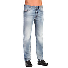 Buy Diesel Buster 0853P Tapered Jeans, Light Wash Online at johnlewis.com