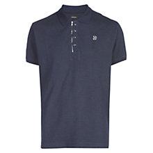Buy Diesel T-Kalar Dots Zip Collar Polo Shirt, Total Eclipse Online at johnlewis.com