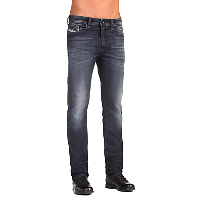 Image of Diesel Buster Stretch Jeans, Dark Wash