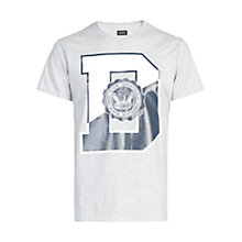 Buy Diesel T-Diego T-Shirt, Light Grey Online at johnlewis.com