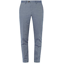 Buy Ted Baker Bigtro Mini Design Classic Fit Suit Trousers, Blue Online at johnlewis.com