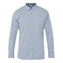 Buy Ted Baker Go Home Shirt, Blue Online at johnlewis.com