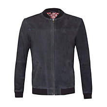 Buy Ted Baker Vipers Suede Bomber Jacket Online at johnlewis.com