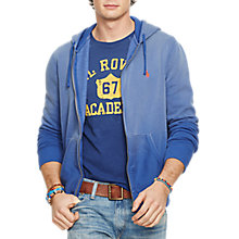 Buy Polo Ralph Lauren Zip Pocket Full Zip Hoodie, Marquis Blue Online at johnlewis.com