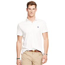 Buy Polo Ralph Lauren Cotton Silk Custom Fit Polo Shirt Online at johnlewis.com