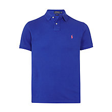Buy Polo Ralph Lauren Slim Fit Polo Shirt, Bright Royal Online at johnlewis.com