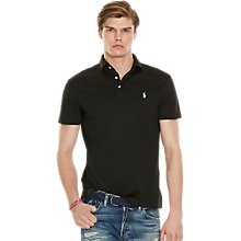 Buy Polo Ralph Lauren Short Sleeve Custom Fit Polo Shirt, Black Online at johnlewis.com