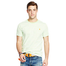 Buy Polo Ralph Lauren Short Sleeve Stripe T-shirt, Nantucket Lime/White Online at johnlewis.com