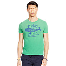 Buy Polo Ralph Lauren Graphic Crew Neck T-Shirt, Academy Green Online at johnlewis.com