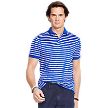 Buy Polo Ralph Lauren Short Sleeve Striped Polo Shirt, Bright Royal Multi Online at johnlewis.com