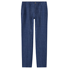 Buy Jigsaw Linen Double Face Trouser, Navy Online at johnlewis.com