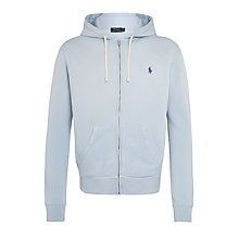 Buy Polo Ralph Lauren Full Zip Hoodie, Lucerne Blue Online at johnlewis.com