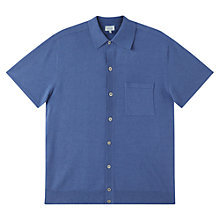 Buy Jigsaw Cotton Linen Button Through Short Sleeve Shirt Online at johnlewis.com