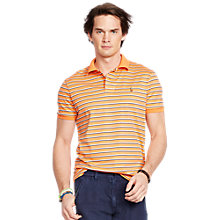 Buy Polo Ralph Lauren Stripe Polo Shirt, Classic Peach Online at johnlewis.com