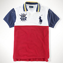 Buy Polo Ralph Lauren Custom Fit Polo Shirt, Red/White Online at johnlewis.com