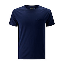 Buy Polo Ralph Lauren Short Sleeve Crew Neck Luxury Jersey Pocket T-Shirt, Cruise Navy Online at johnlewis.com