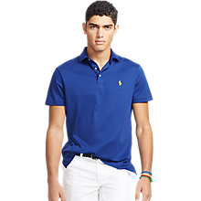 Buy Polo Ralph Lauren Custom Fit Polo Shirt, Driver Navy Online at johnlewis.com