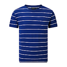 Buy Polo Ralph Lauren Short Sleeve Crew Neck Luxury Striped Jersey Pocket T-Shirt, Royal/White Online at johnlewis.com