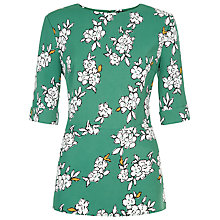 Buy Jaeger Blossom Outline Peplum Blouse, Green Online at johnlewis.com