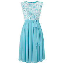 Buy Precis Petite Lace Top Soft Prom Dress, Blue/Multi Online at johnlewis.com