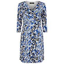 Buy Precis Petite by Jeff Banks Scribble Print Dress, Blue/Multi Online at johnlewis.com