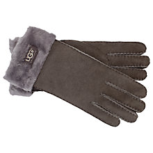 Buy UGG Classic Turn Cuff Gloves, Grey Online at johnlewis.com