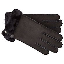Buy UGG Tenney Sheepskin Gloves, Black Online at johnlewis.com